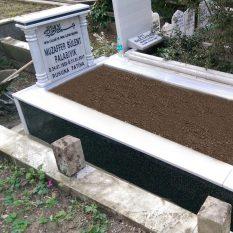 Tek Kişilik Verde Star Sütunlu Gövde Granit Mezar