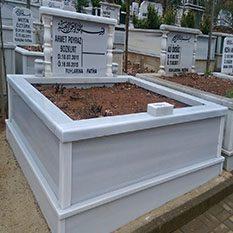 İki Kişilik Sütunlu Mermer Mezar
